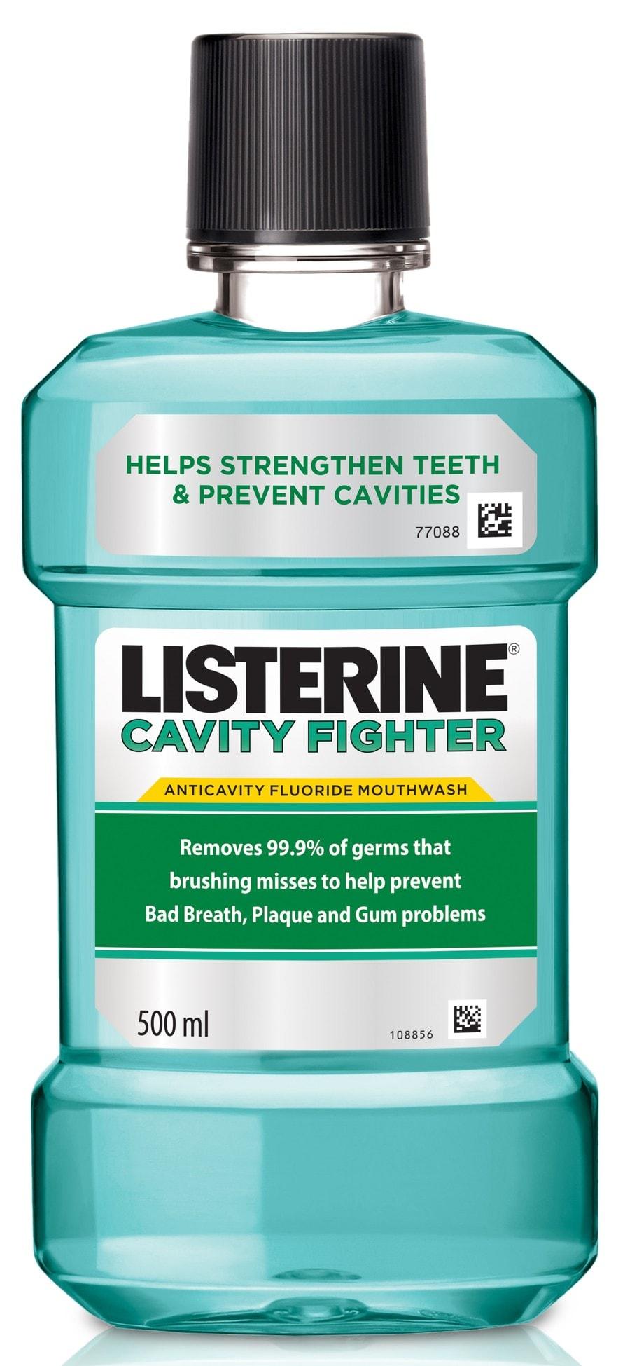 Listerine Cavity Fighter Mouthwash 500ml