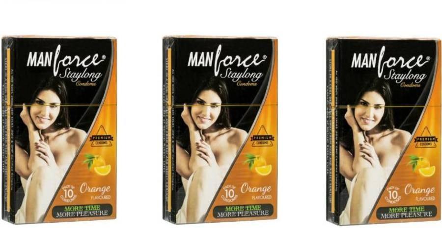 Manforce Staylong Orange Flavoured Condoms - Super Saver (3 X 10s)