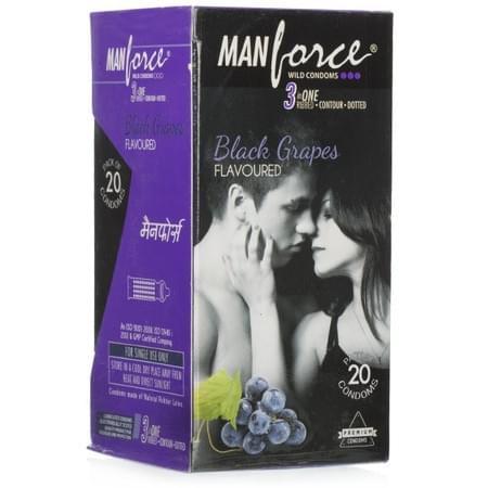 Manforce Wild Black Grapes Condoms - Super Saver (2 X 20s)