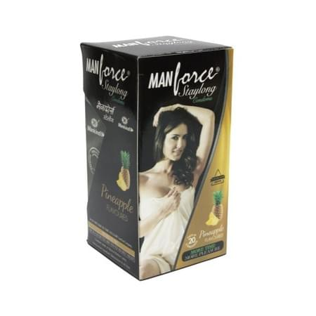 Manforce Staylong Pineapple Flavoured Condoms - Super Saver (2 X 20s)