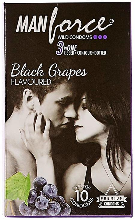 Manforce Wild Condoms Black Grapes - Super Saver (3 X 10s)