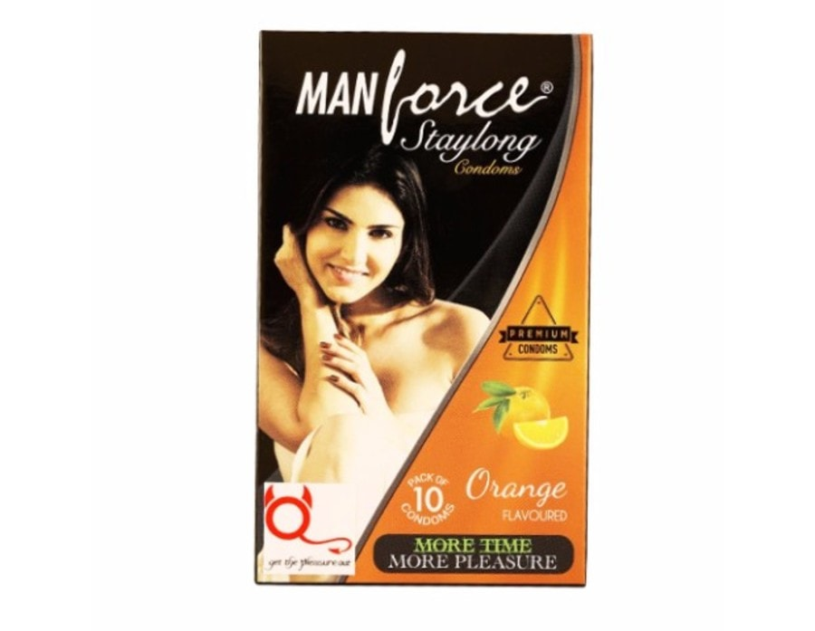 Manforce Staylong Orange Flavoured Condoms Pack Of 10