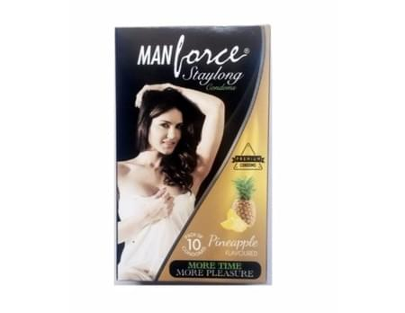 Manforce Staylong Pineapple Flavoured Condoms Pack Of 10