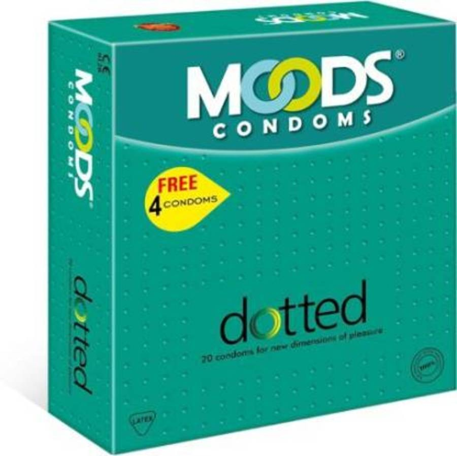 Moods Dotted Silver Condoms - 20's