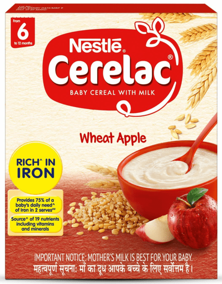 Nestle Cerealac Stage 1 (6 - 24 Months) Wheat Apple Refill 300 Gm