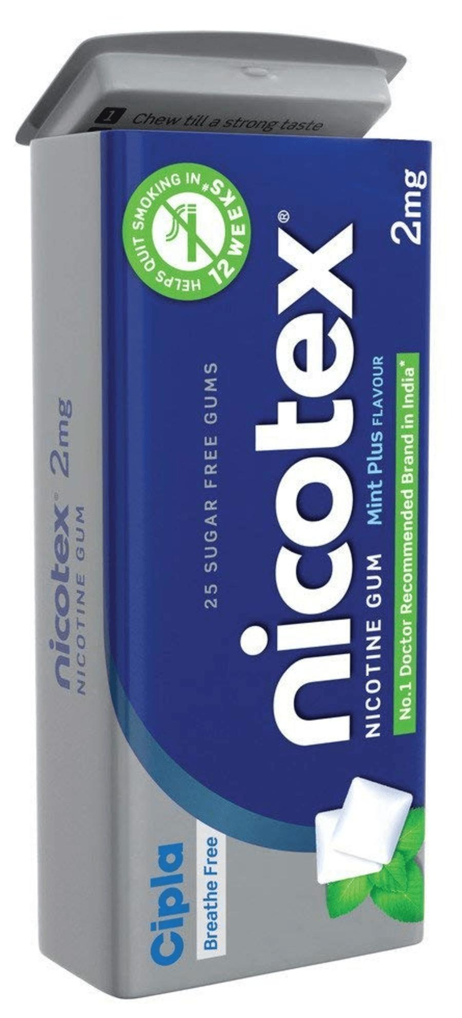 Nicotex Mint Plus 2mg Tin 25 Gums