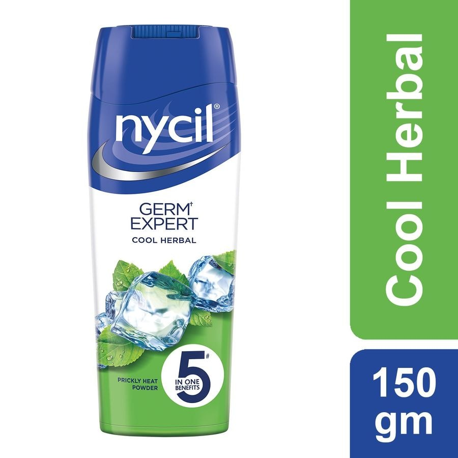 Nycil Cool Herbal Prickly Heat Powder  Bottle Of 150 G