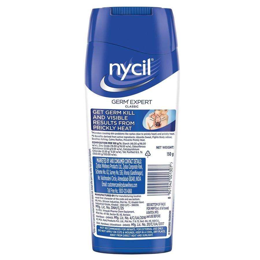 Nycil Classic Prickly Heat Talcum Powder - 150gm (cool Herbal 50g Free)