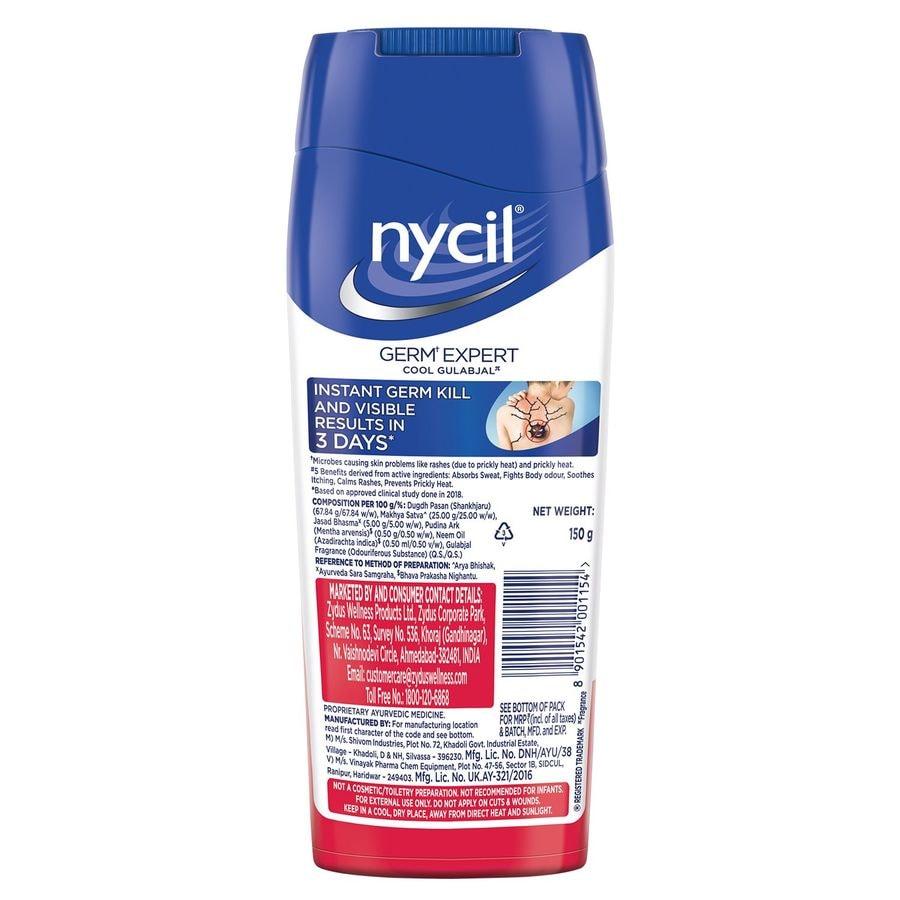 Nycil Cool Gulabjal Prickly Heat Talcum Powder - 150gm