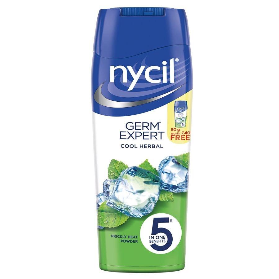 Nycil Cool Herbal  Prickly Heat Talcum Powder  Bottle Of 150 G (cool Herbal 50g Free)