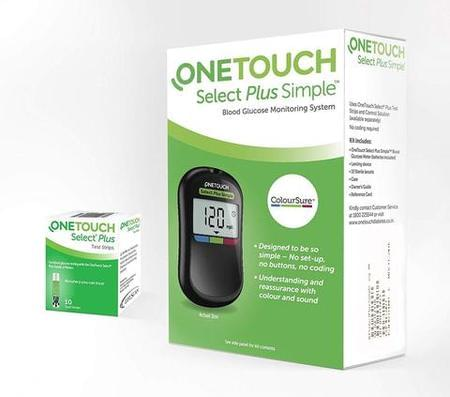 One Touch Select Plus Simple Blood Glucose Monitor (10strips Free)