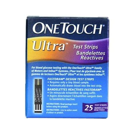 One Touch Ultra 25 Strips