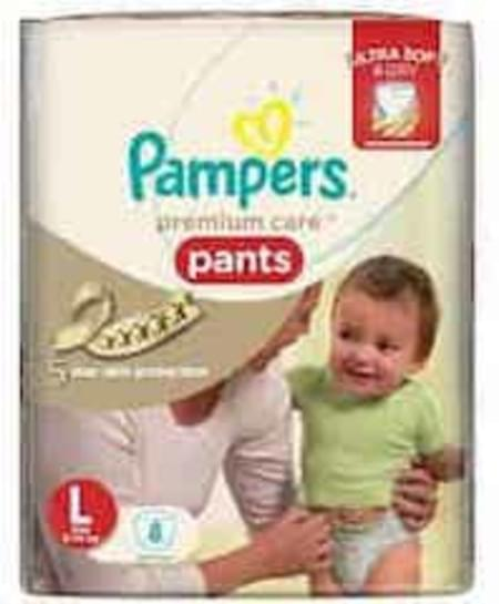 Pampers Diaper Pants Large 8 Pieces