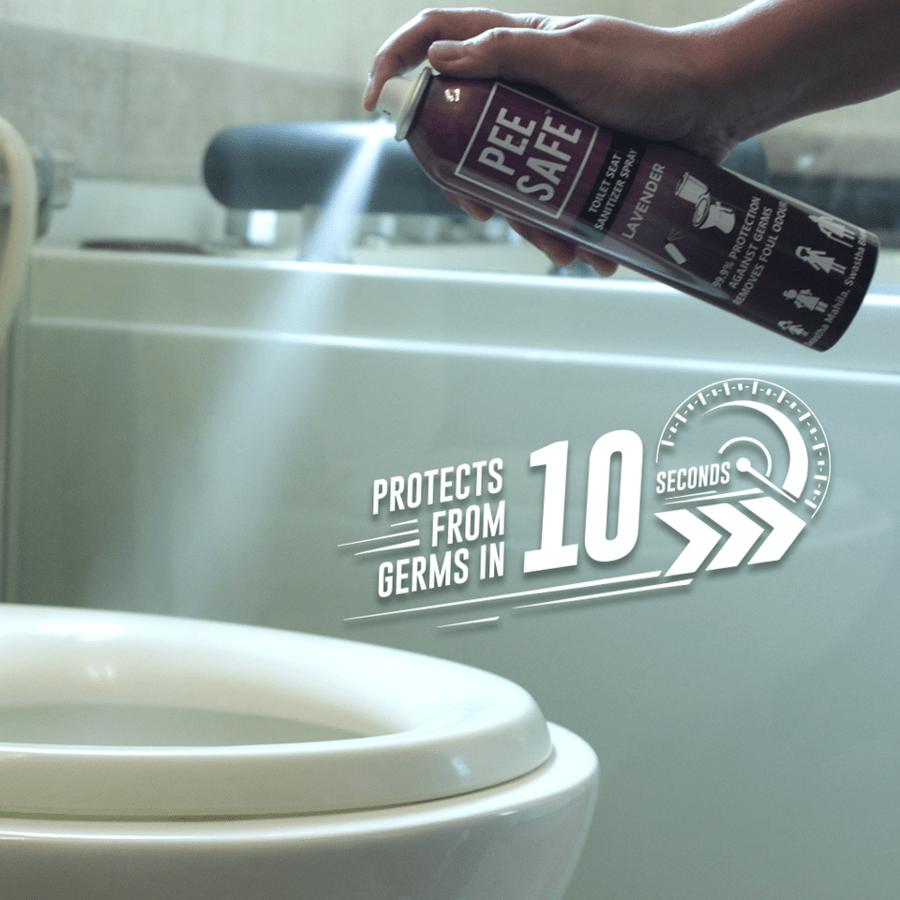 Pee Safe Toilet Seat Sanitizer - Washroom Pack (lavender, 300 Ml)