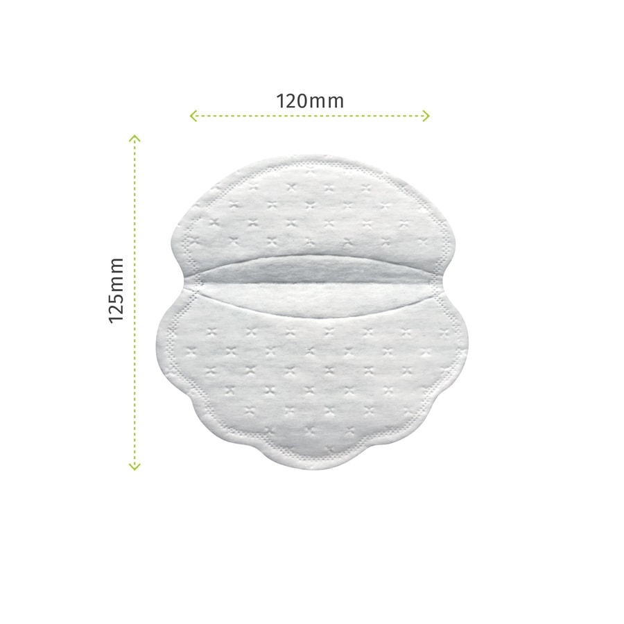 Pee Safe Disposable Underarm Sweat Pads (straight) - Pack Of 14