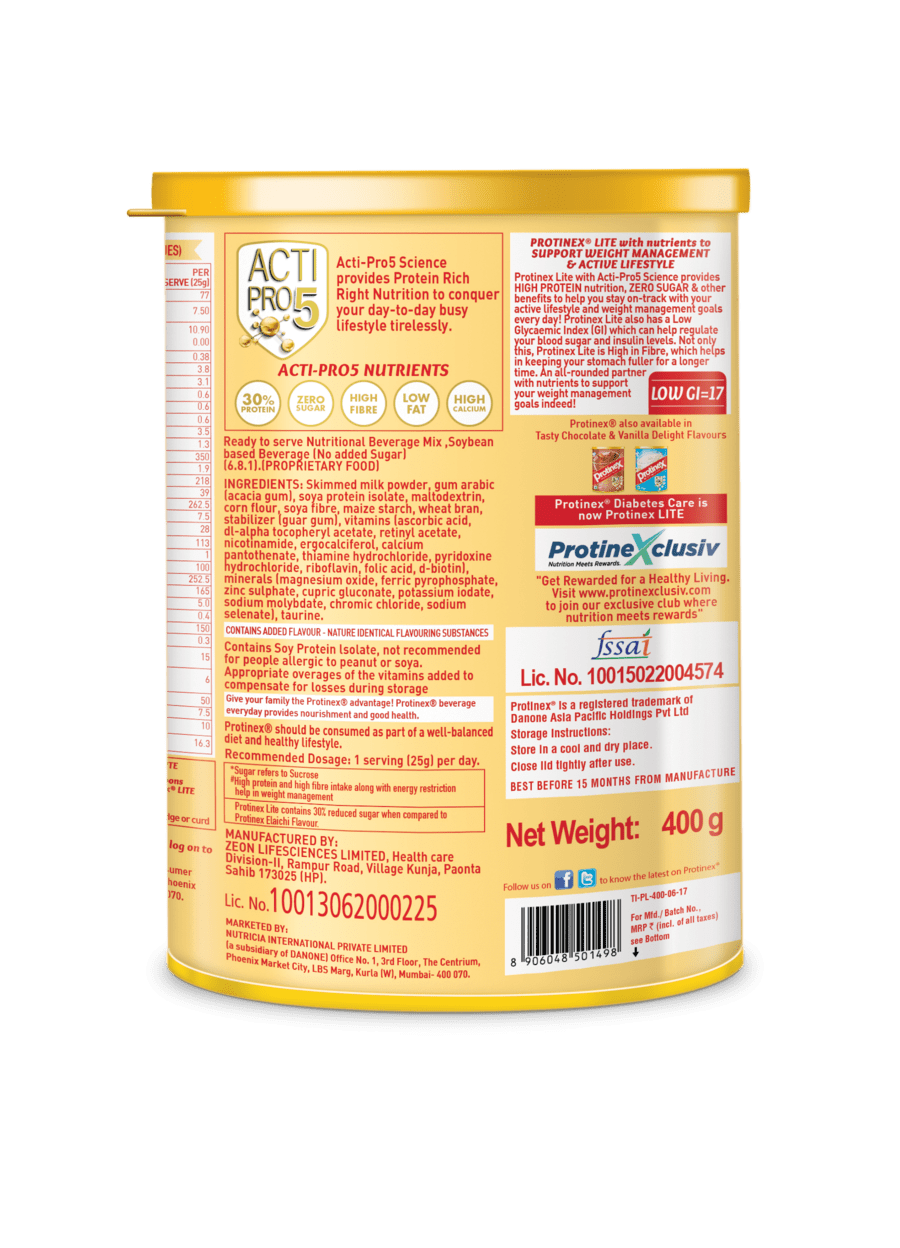 Protinex Lite Vanilla - 400gm Tin
