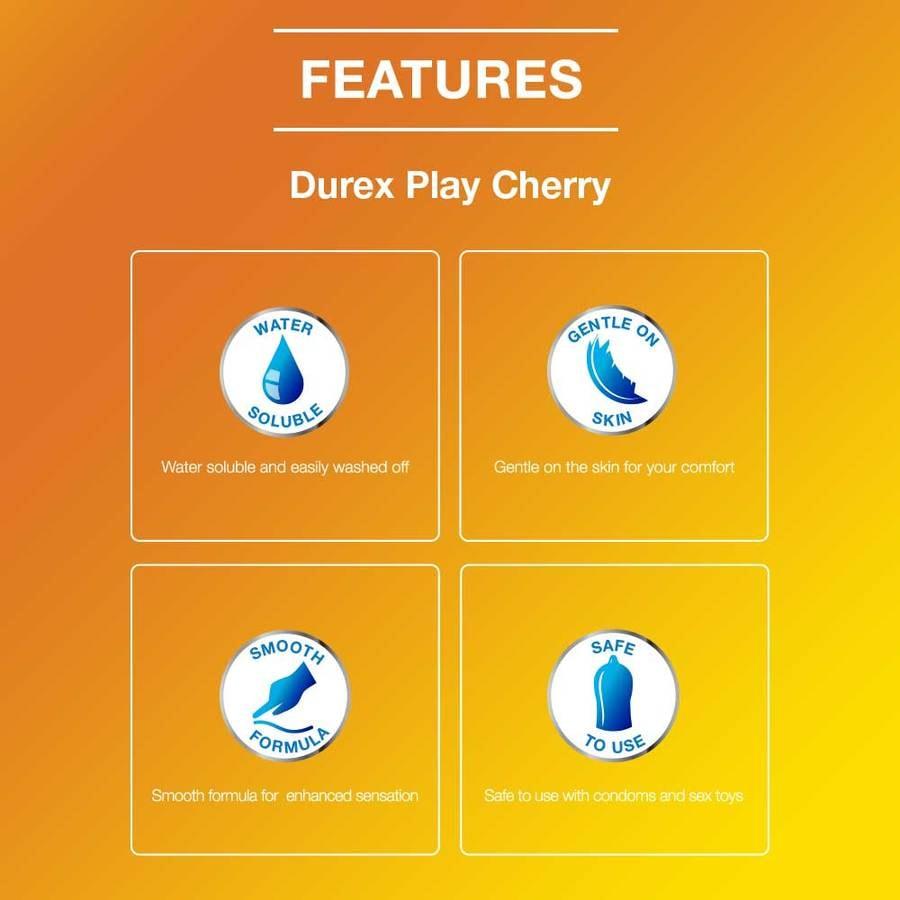 Durex Play Lubricant Gel, Very Cherry- 50ml