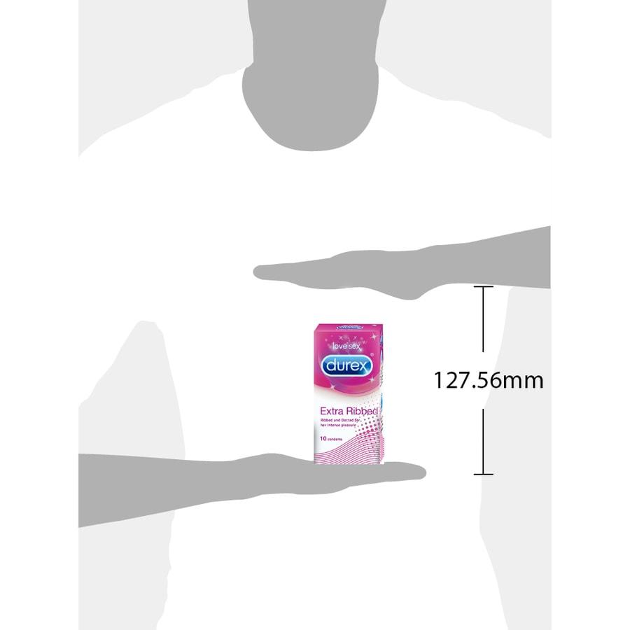Durex Condoms, Extra Ribbed- 10 Pieces