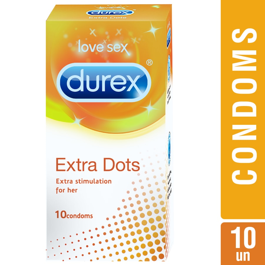 Durex Condoms, Extra Dots- 10 Pieces