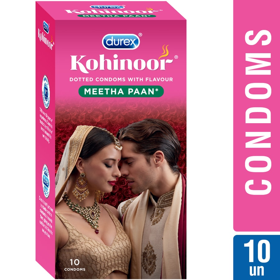 Durex Kohinoor Condoms, Meetha Paan- 10 Pieces