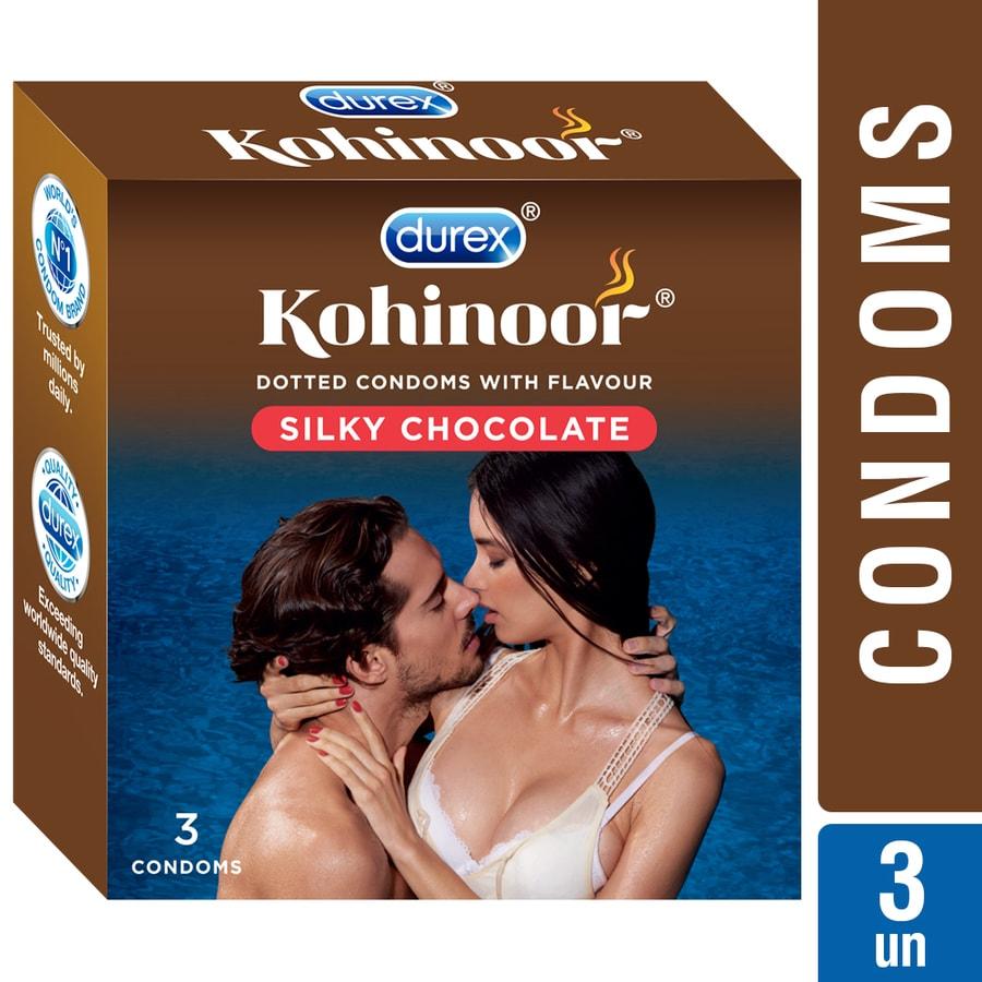 Durex Kohinoor Condoms, Silky Chocolate- 3 Pieces