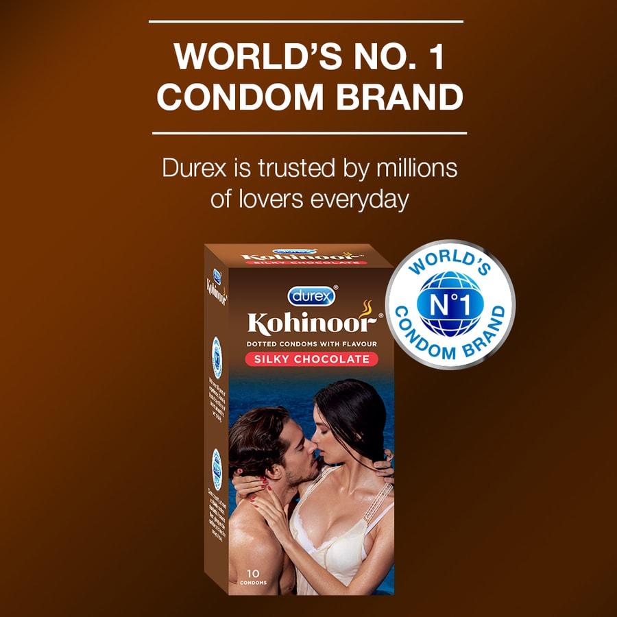 Durex Kohinoor Condoms, Silky Chocolate- 10 Pieces