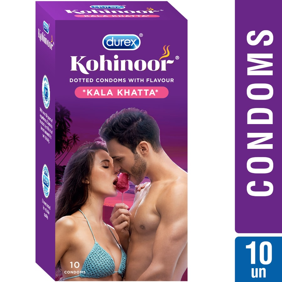 Durex Kohinoor Condoms, Kala Khatta- 10 Pieces