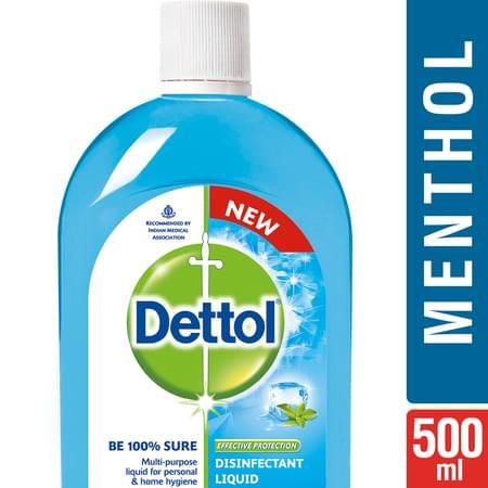 Dettol Disinfectant Multi-use Hygiene Liquid, Menthol Cool - 500 Ml