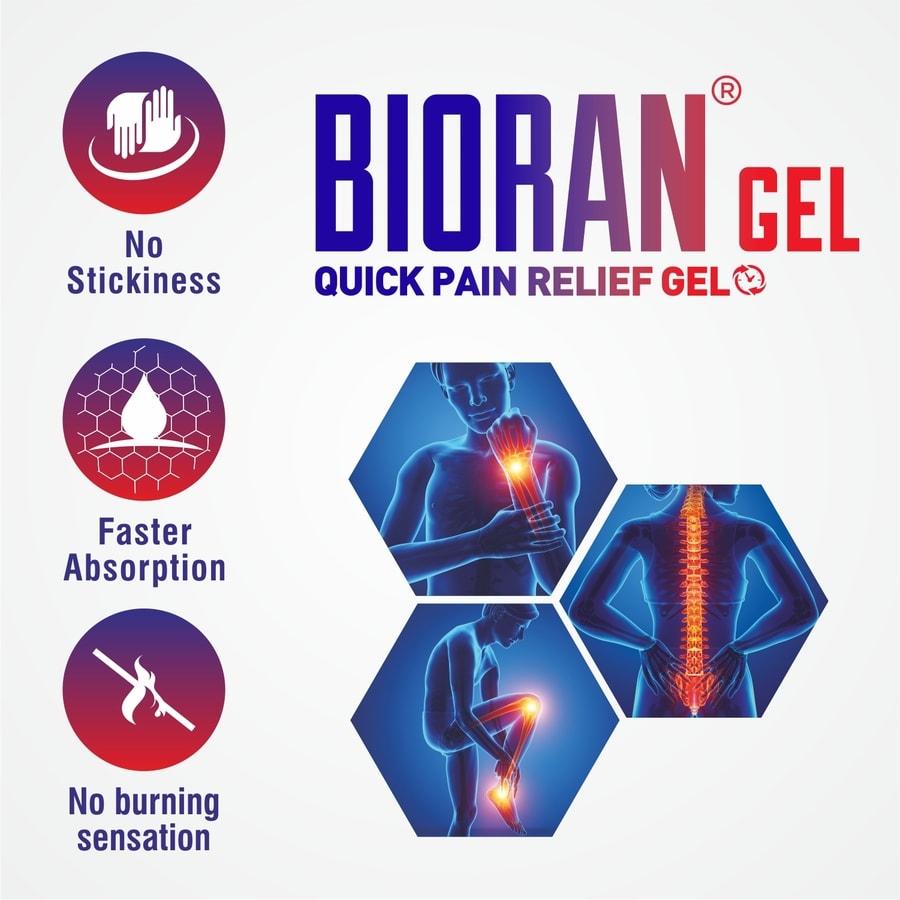 Bioran Gel 30gm - Quick Pain Relief Gel
