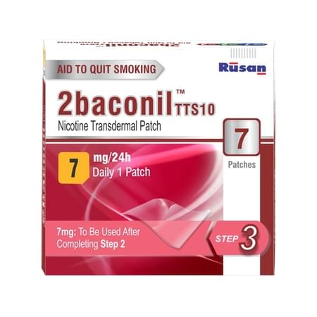 2baconil - 7mg Nicotine Patch For Quit Smoking/tobacco - Step 3