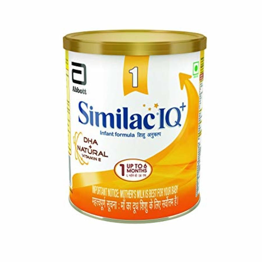 Similac Iq+ Stage 1 Infant Formula Dha + Natural Vitamin E -400gm, Up To 6 Months