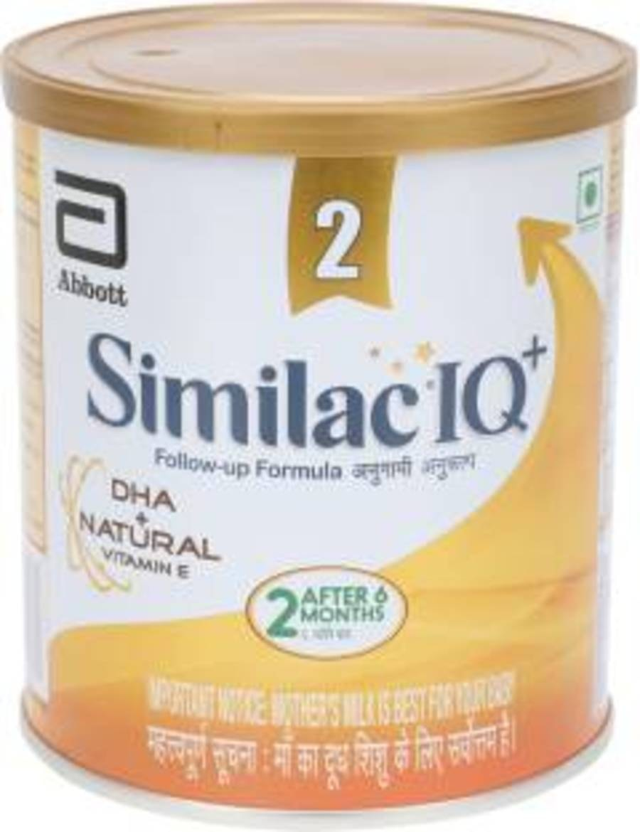 Similac Iq+ Stage 2 Follow-up Formula With Dha + Natural Vitamin E (after 6 Months) Tin - 400gm