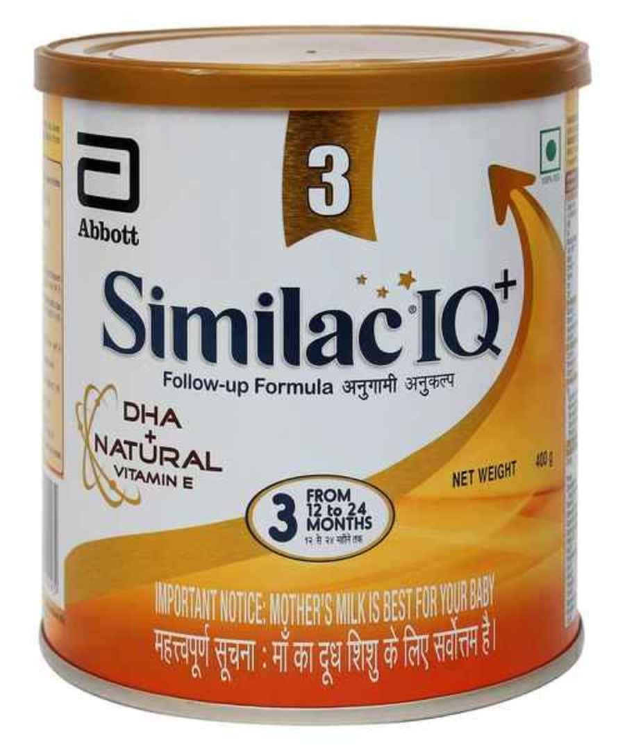 Similac Iq+ Stage 3 Follow-up Formula With Dha + Natural Vitamin E (from 12 - 24 Months) Tin - 400gm