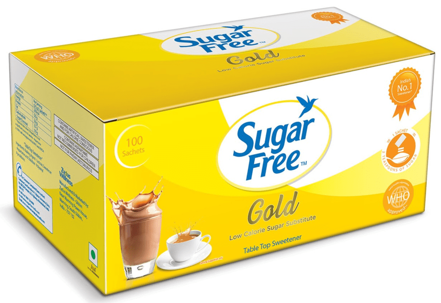Sugar Free Gold 100 Sachets - Low Calorie Sweetener & Sugar Substitute