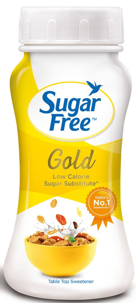 Sugar Free Gold 100 Gm Conc. Powder Jar - Low Calorie Sweetener & Sugar Substitute