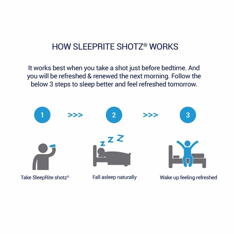 Sleeprite Shotz 2 Berry 2 Litchi-licious (pack Of 4)