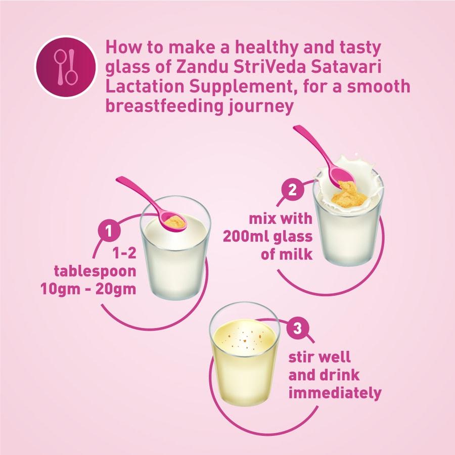 Zandu Striveda - Satavari Lactation Supplement - 210gm